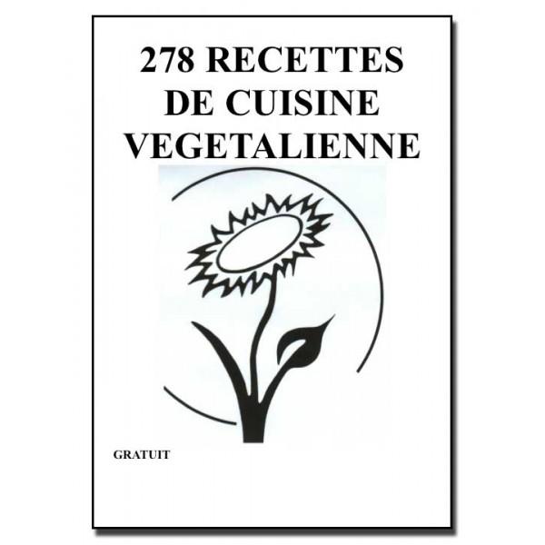 LIVRET DE 278 RECETTES DE CUISINE VÉGÉTALIENNE [MULTI]
